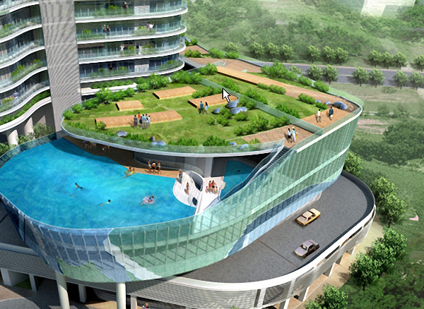In piscina sul balcone di casa for Comprare piscina