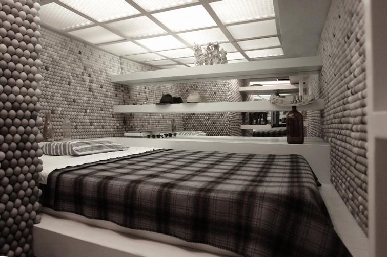 Un loft decorato con palline da ping pong for Garage con il costo dell appartamento loft