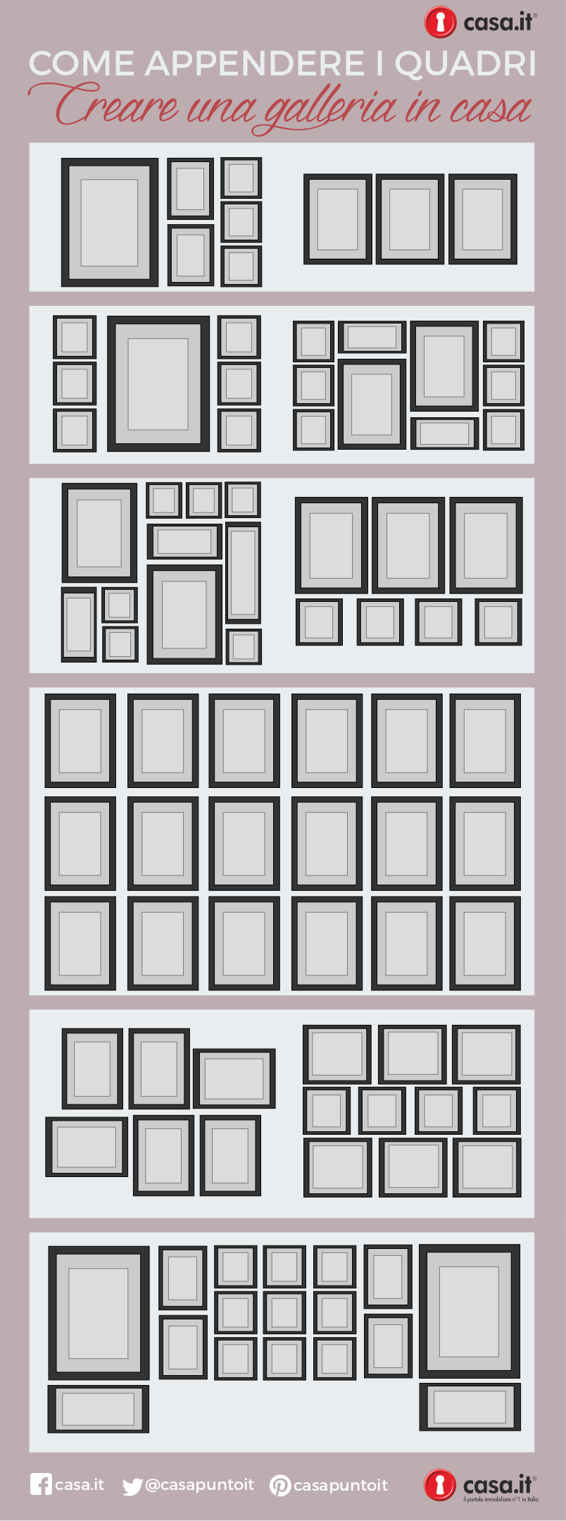 effetto galleria: come appendere i quadri - casa.it