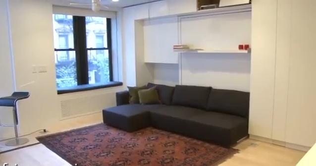 L 39 appartamento transformer 100 mq in 30 mq for Arredare camera da letto di 10 mq