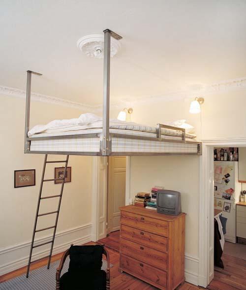 Il letto soppalcato soluzioni per sfruttare spazio in for Soluzioni letto per ospiti