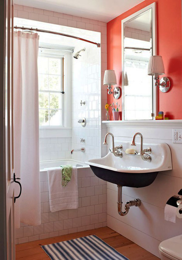10 grandi idee per arredare un piccolo bagno - Idee rivestimento bagno piccolo ...