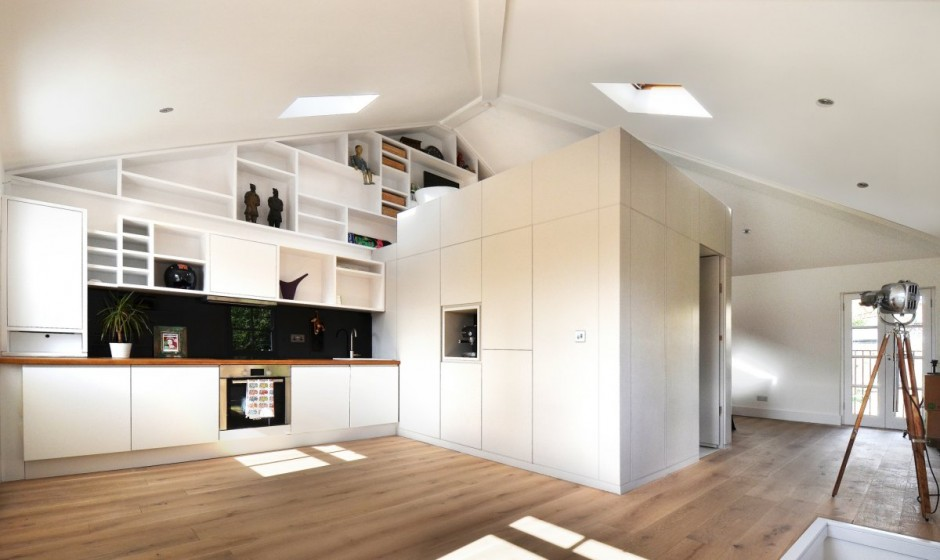 Un piccolo grande loft 4 ambienti in meno di 40 mq - Mezzanine foto ...
