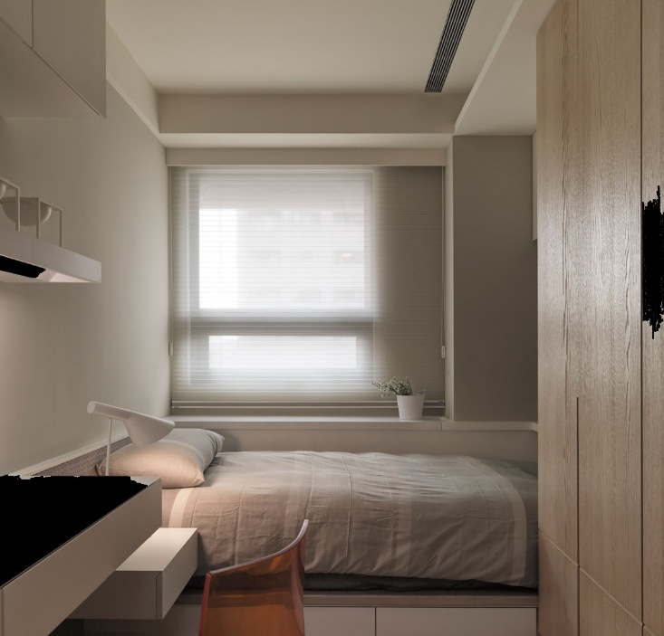 Un piccolo spazio un grande progetto e un risultato for Neutral bedroom ideas pinterest