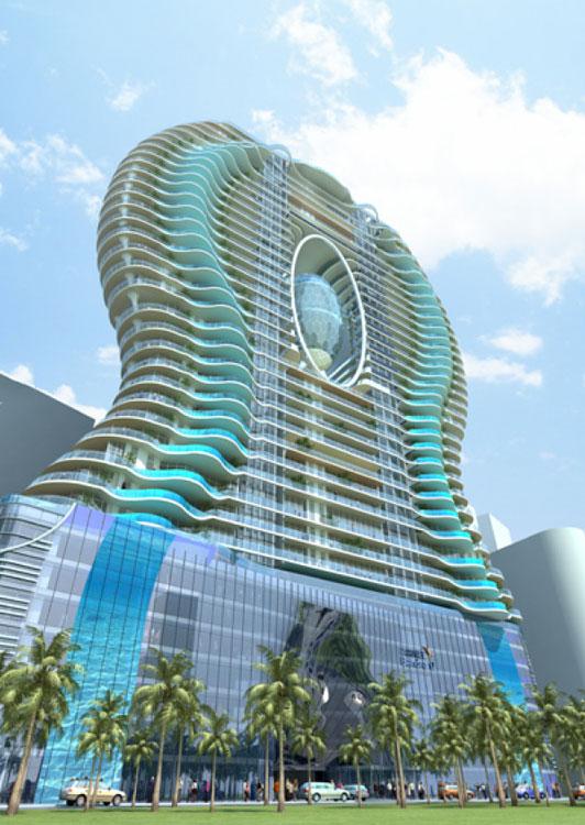 In piscina sul balcone di casa: la Bandra Ohm Tower - Casa.it