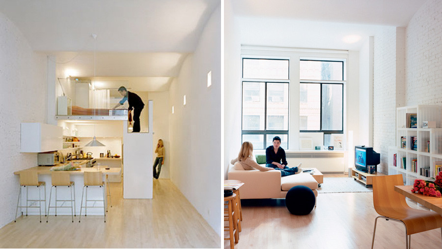 Il monolocale loft for Piccoli progetti di casa gratuiti