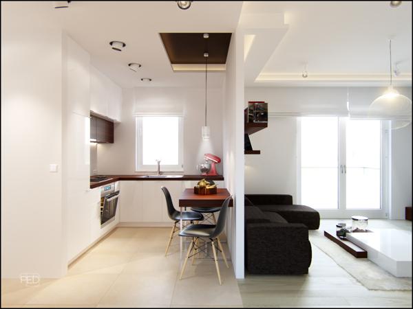 Mini appartamenti 5 soluzioni sorprendenti dai 40 ai 50 for Arredamento bilocale moderno