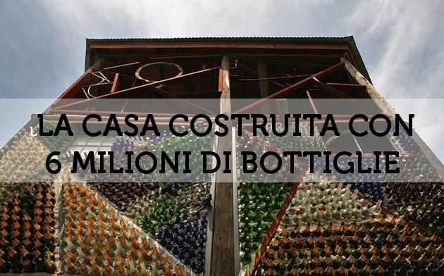 Pareti Con Bottiglie Di Vetro : Riciclo creativo costruire case con bottiglie di vetro tappi e