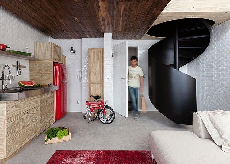 38 mq spettacolari una ristrutturazione che ha reso un for Sala di piani quadrati a chiocciola