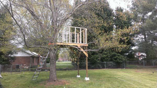 Il regalo di un pap al proprio figlio una casa sull for Kit per costruire casa sull albero