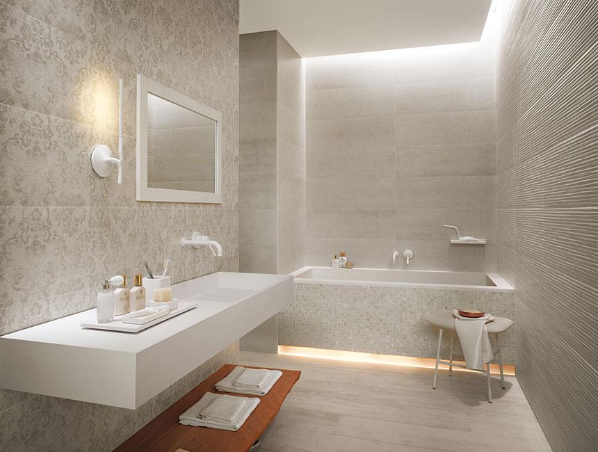 Diseno De Baño Grande:Patterned Bathroom Tiles