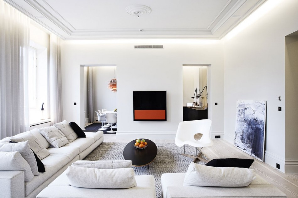 Bianco e nero un mix minimal di eleganza e raffinatezza - Decoration moderne appartement ...