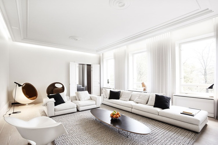 Bianco e nero un mix minimal di eleganza e raffinatezza for Interieur appartement design