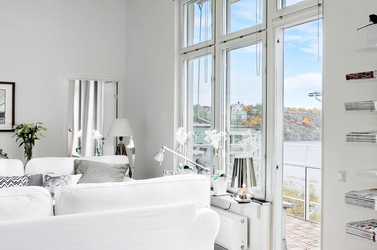 Una casa da sogno tutta bianca - Salon comedor con estilo ...