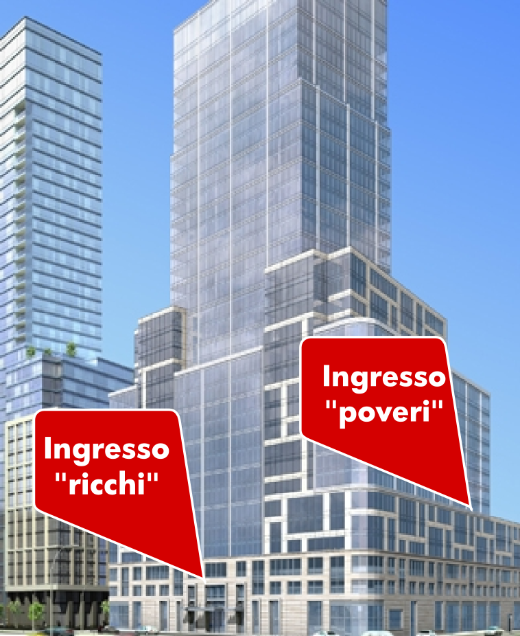 New york un condominio di lusso crea ingressi separati for Appartamenti vacanza new york city