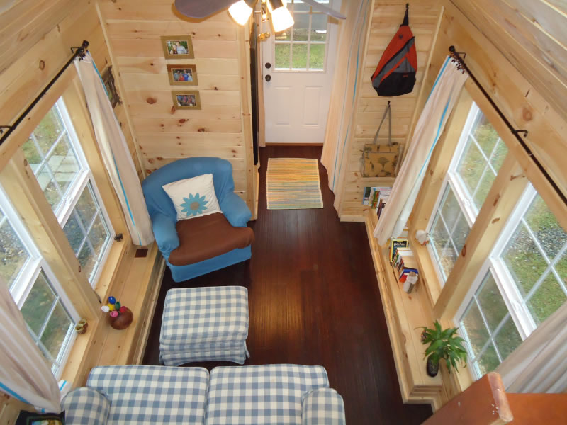 Sunny-Side-Interior-from-Loft-Brevard-Tiny-House-Company