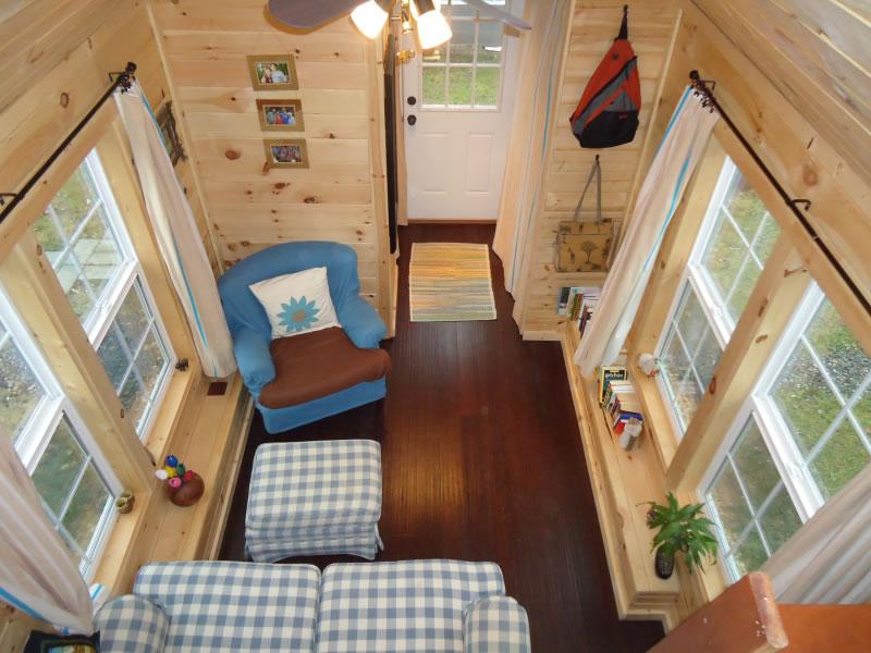 Sunny-Side-Interior-from-Loft-Brevard-Tiny-House-Company