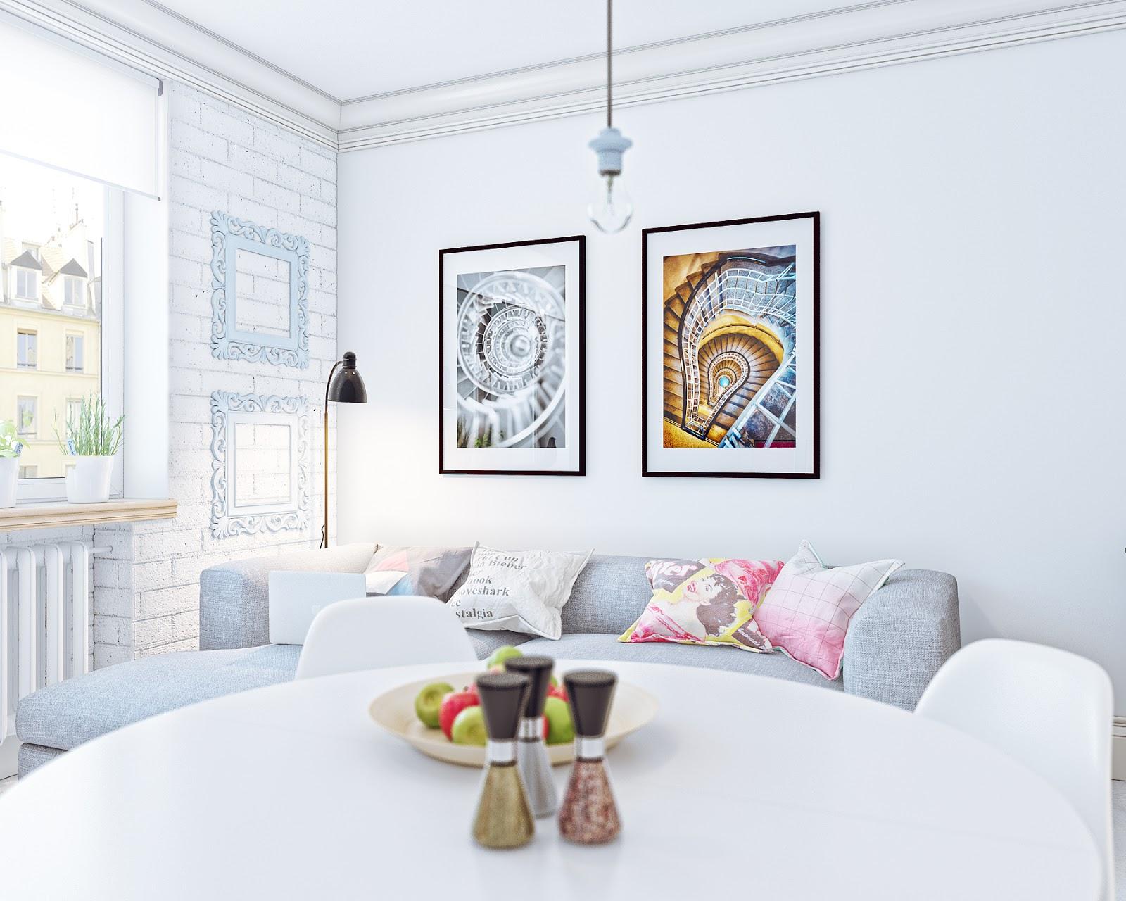 Arredare piccoli spazi giocando con i colori: 25 mq straordinari