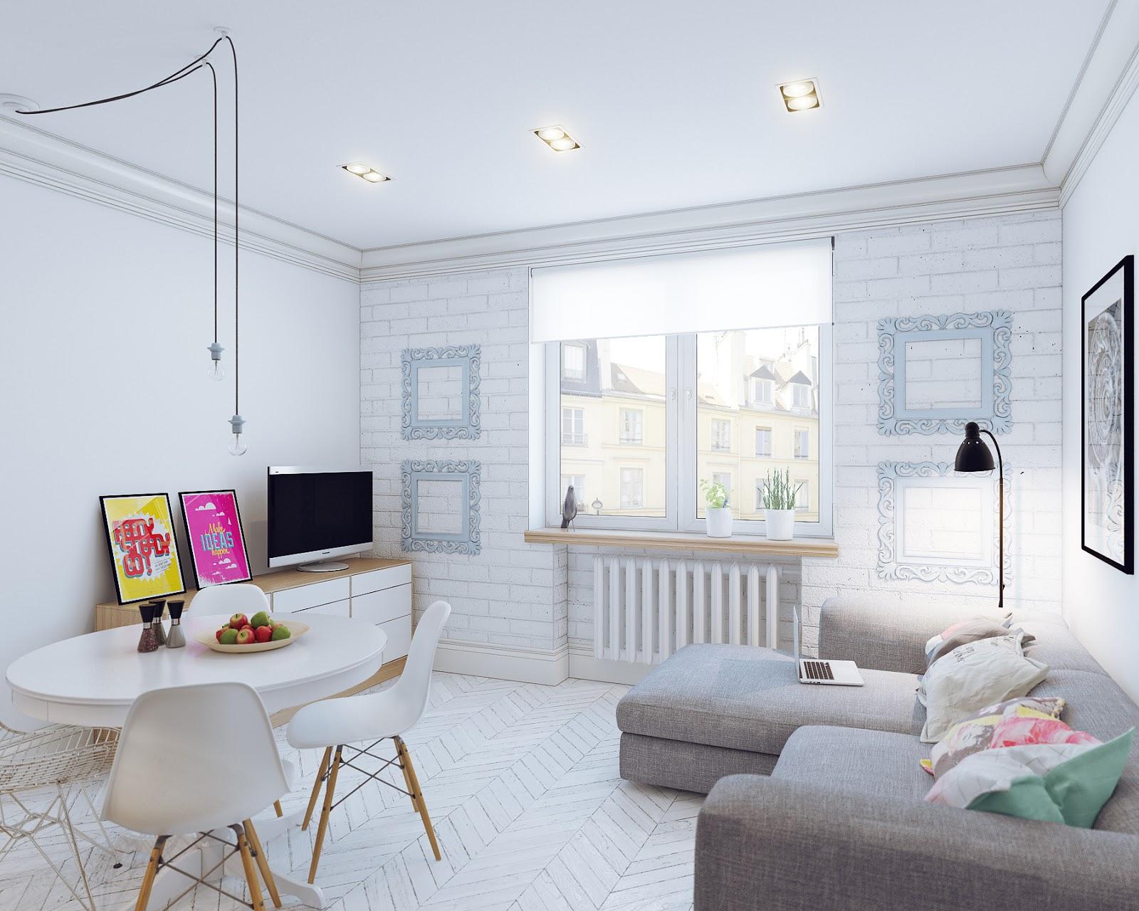 Top Arredare piccoli spazi giocando con i colori: 25 mq straordinari DK98