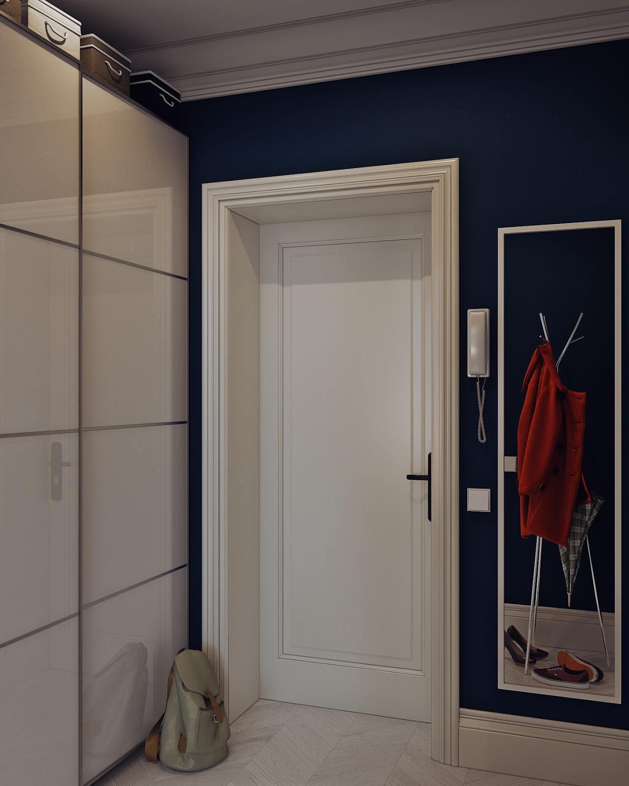 Arredare piccoli spazi giocando con i colori 25 mq for Ingresso anteriore del mudroom