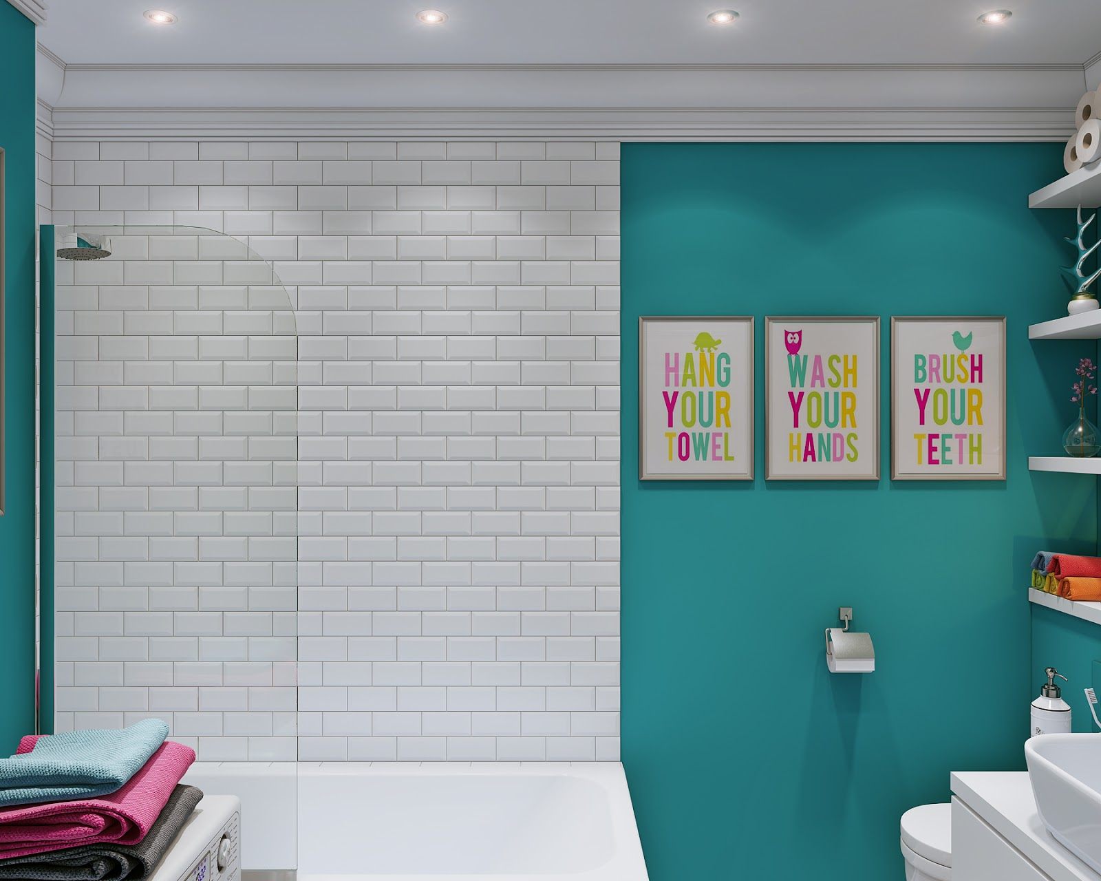 Arredare piccoli spazi giocando con i colori 25 mq for Bagno 7 mq
