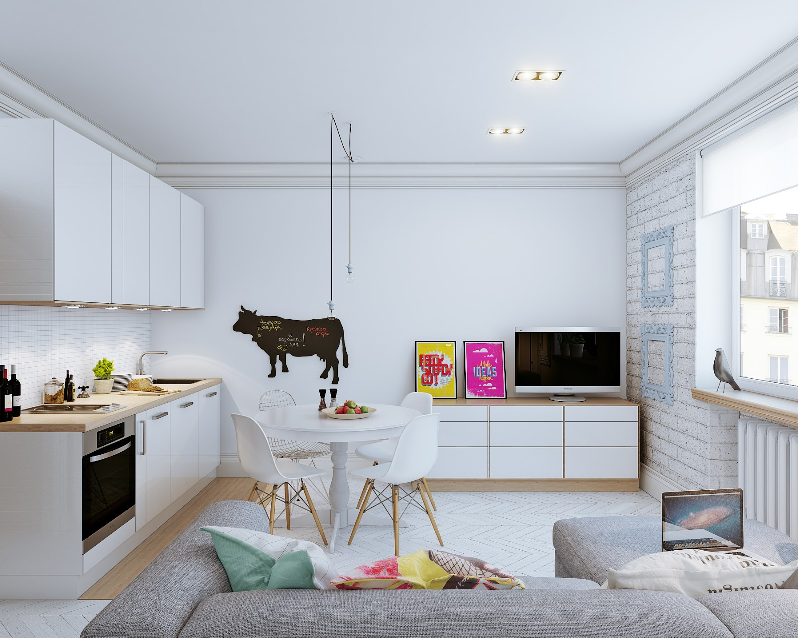 Arredare piccoli spazi giocando con i colori 25 mq for Arredare piccoli appartamenti