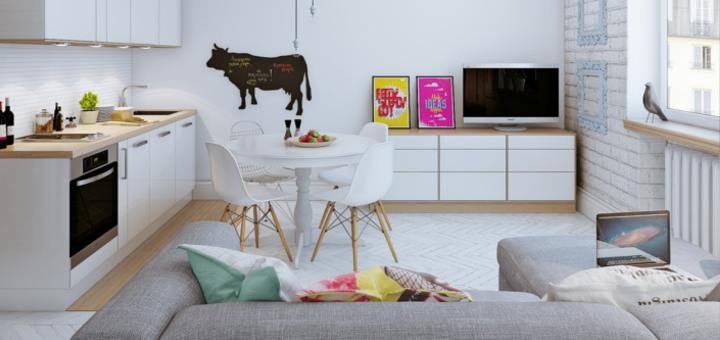 Arredare piccoli spazi giocando con i colori 25 mq - Quanto si da di caparra per acquisto casa ...