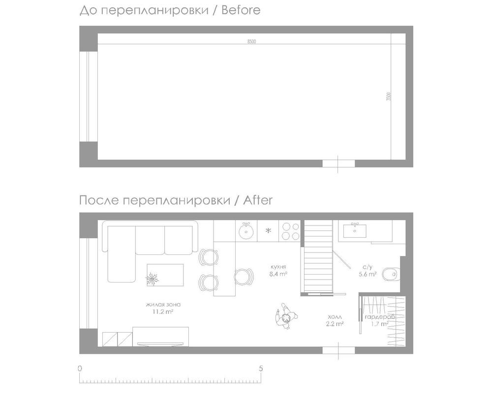 Arredare un monolocale di 30 mq il progetto che fa per voi - Arredare casa 30 mq ikea ...