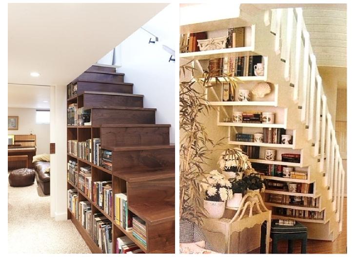 10 americanate per rendere la vostra casa incredibile - Bibliotheque sous escalier bois ...