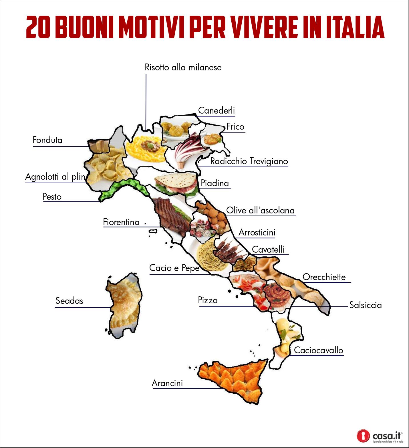Risultati immagini per regioni italiane e specialità