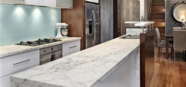 il marmo in cucina