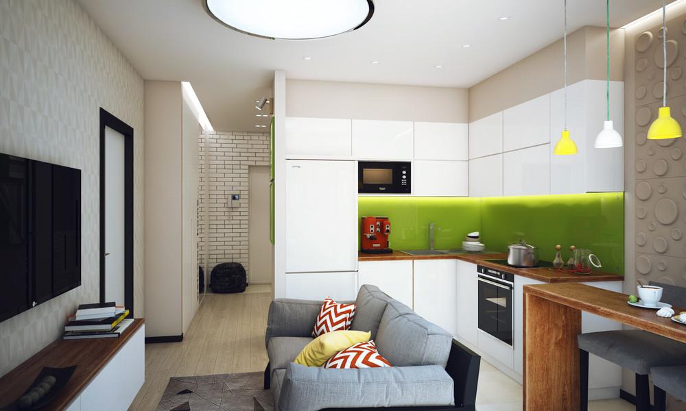 Lavorare da casa l 39 appartamento perfetto - Cucina e soggiorno in 30 mq ...