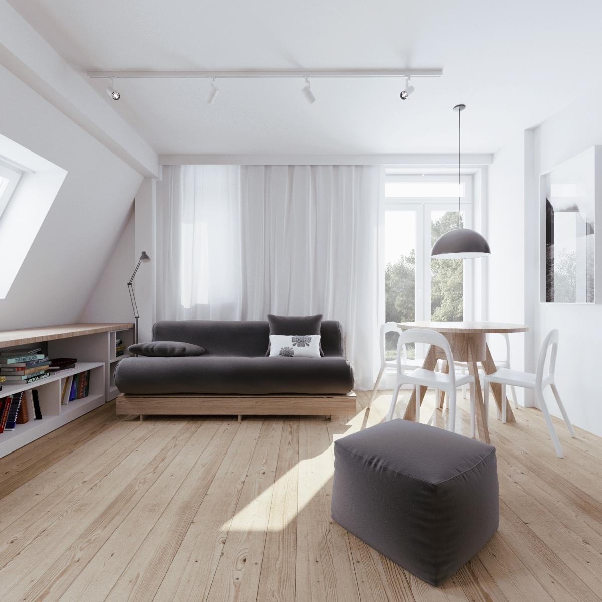 living room in attic idea - Una bellissima mansarda Casa