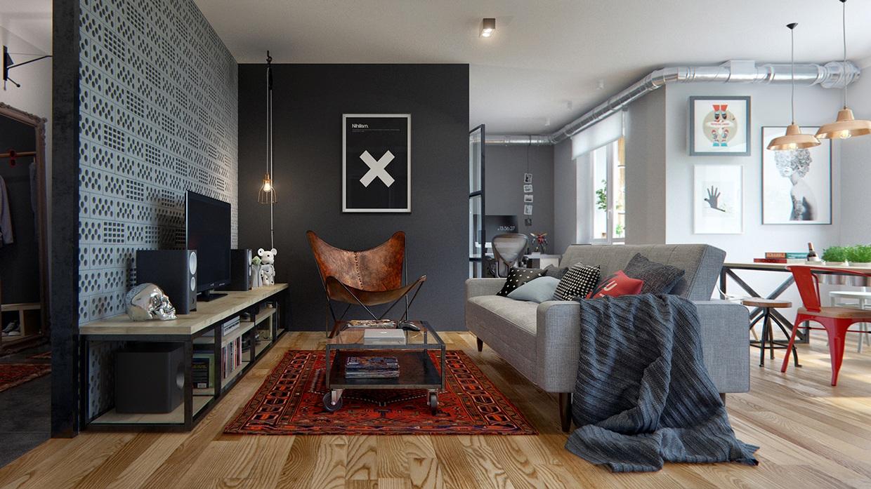 Un perfetto appartamento per single for Appartamento design industriale
