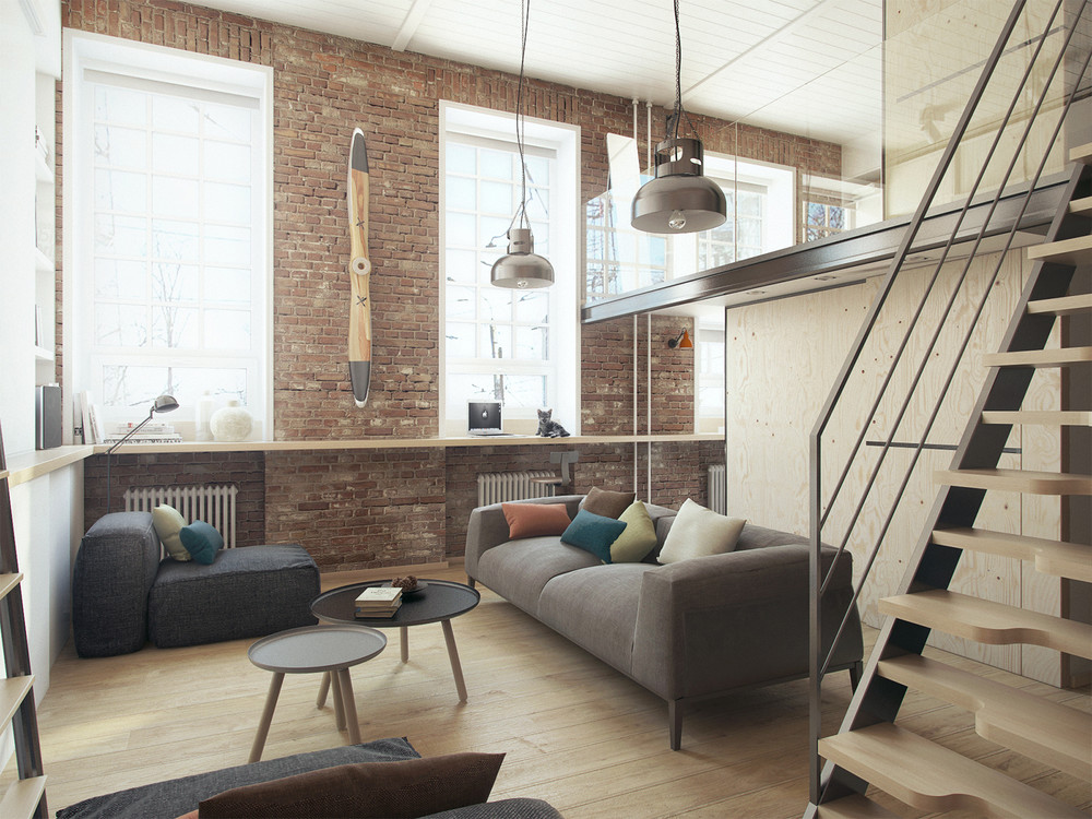 Un concentrato di stile e funzionalit in un loft di 35 mq for Small flat design ideas