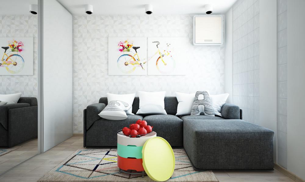 Un bel progetto per arredare un appartamento di 50 mq for Arredare appartamento di 100 mq