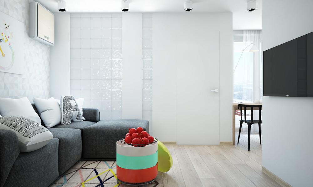 Un bel progetto per arredare un appartamento di 50 mq for Appartamento 50 mq