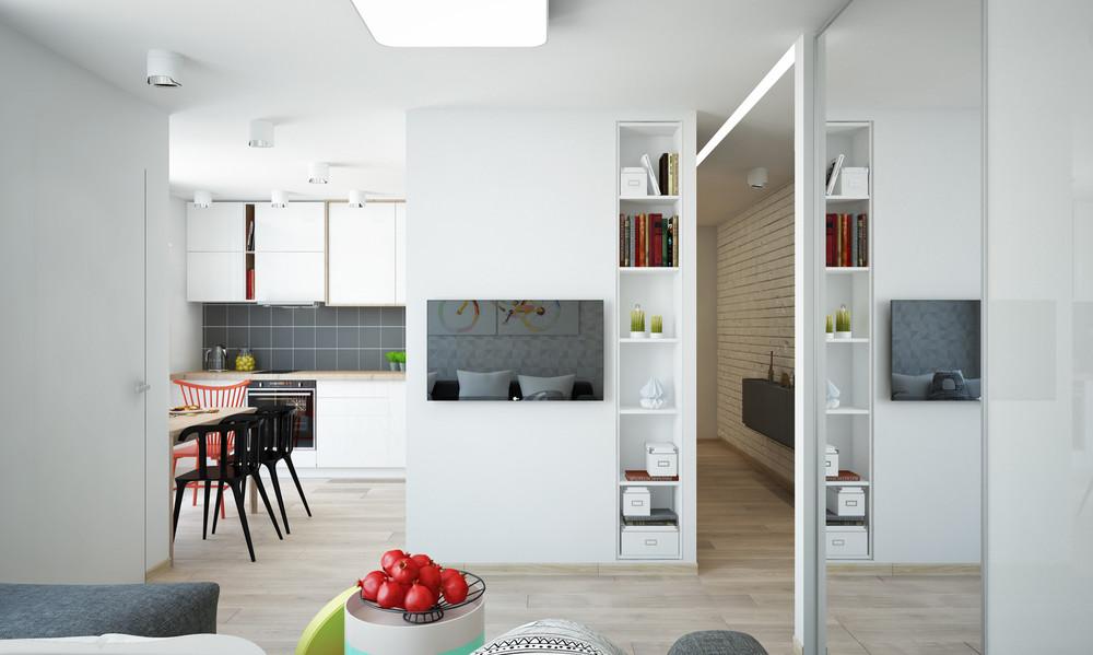 Un bel progetto per arredare un appartamento di 50 mq - Arredare casa 65 mq ...