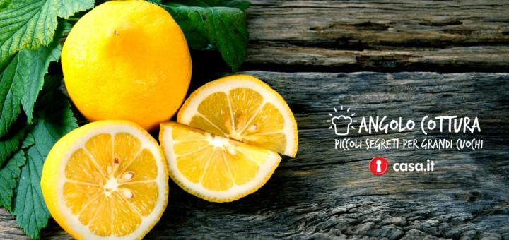 usare il limone in cucina