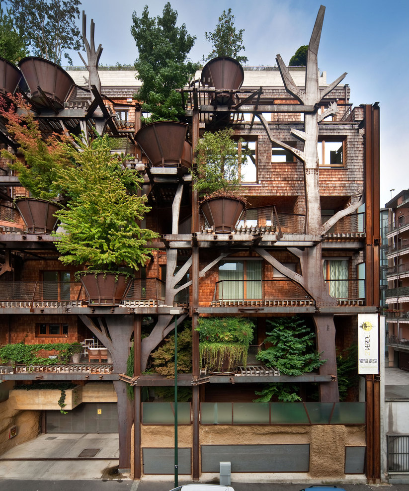 A torino una foresta abitabile for Design eco casa verde