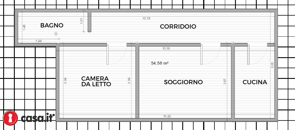60 mq una ristrutturazione economica - Planimetria casa 60 mq ...