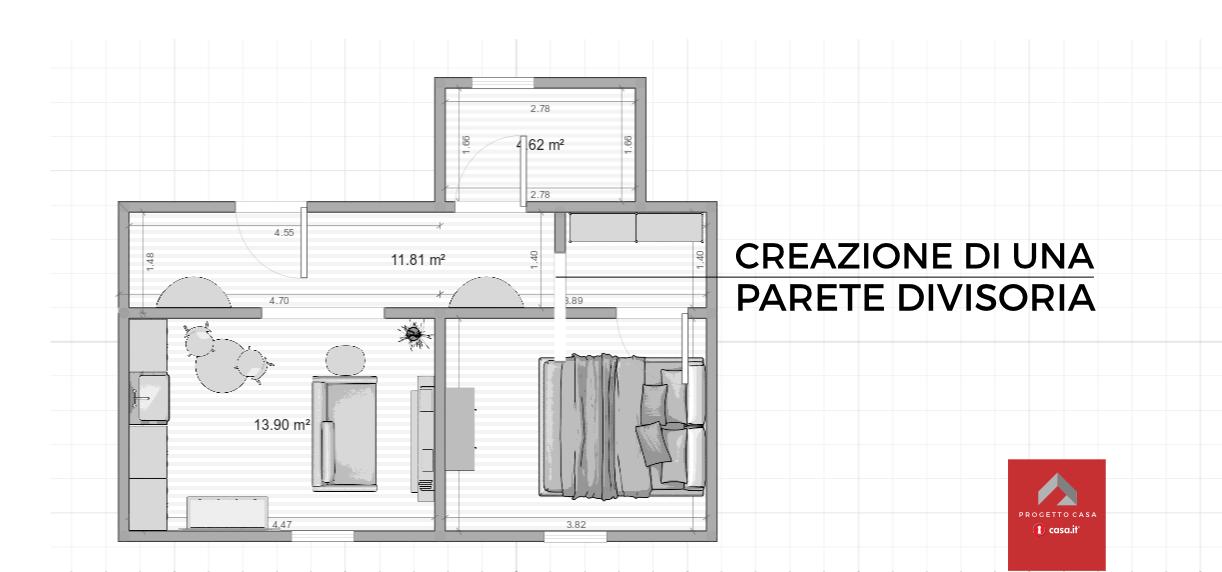 La cabina armadio nel corridoio - Casa.it