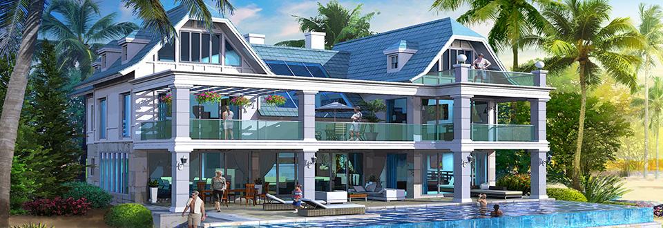 Dubai spettacolari ville su sei isole ispirate all 39 europa for Piani di casa con vista sull acqua