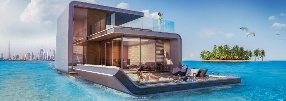 Dubai spettacolari ville su sei isole ispirate all 39 europa for Case costruite su pendii