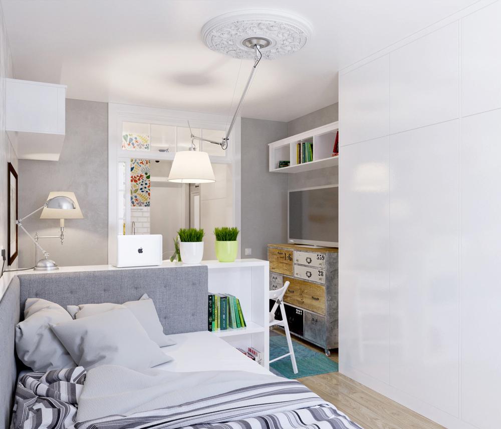 Arredare piccoli spazi l 39 appartamento extrasmall di 25 mq - Arredare casa 30 mq ikea ...
