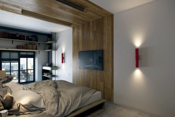 Un micro appartamento di 18 mq spaziosissimo - Angolo studio in camera da letto ...