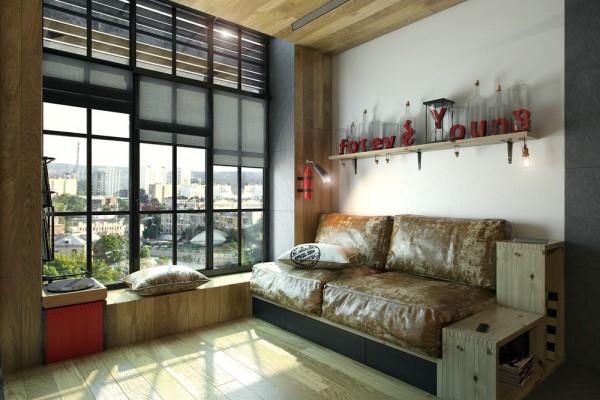 divano in 18 mq
