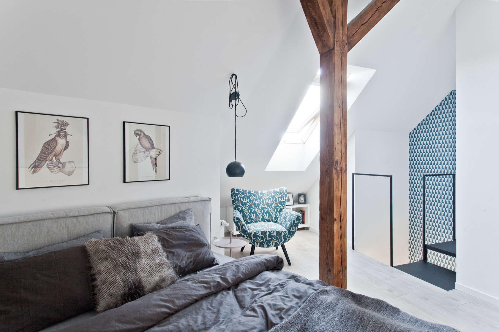 Da soffitta a mansarda una splendida trasformazione - Cuadros para decorar habitaciones ...