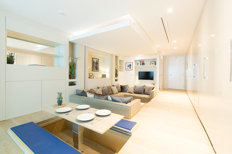 Appartamento Che Promette Di Rivoluzionare Il Concetto Di Spazio #664B1E 1500 1000 Come Arredare Una Cucina Soggiorno Di 40 Mq