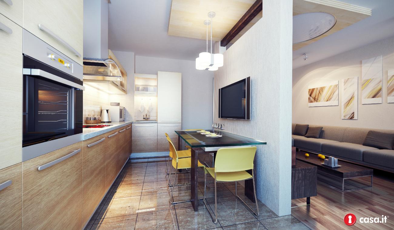 Divisori cucina soggiorno in cartongesso: idee da copiare per ...